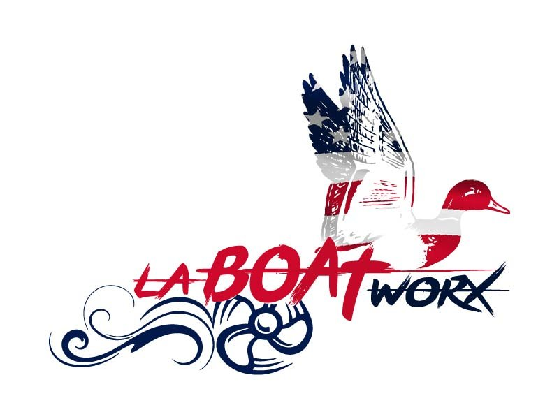 LA BOAT WORX logo design by bulatITA