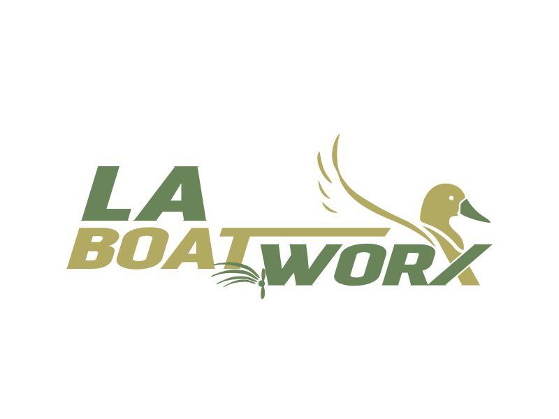 LA BOAT WORX logo design by veter