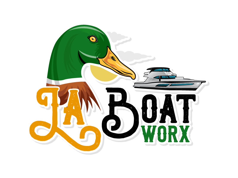 LA BOAT WORX logo design by Suvendu