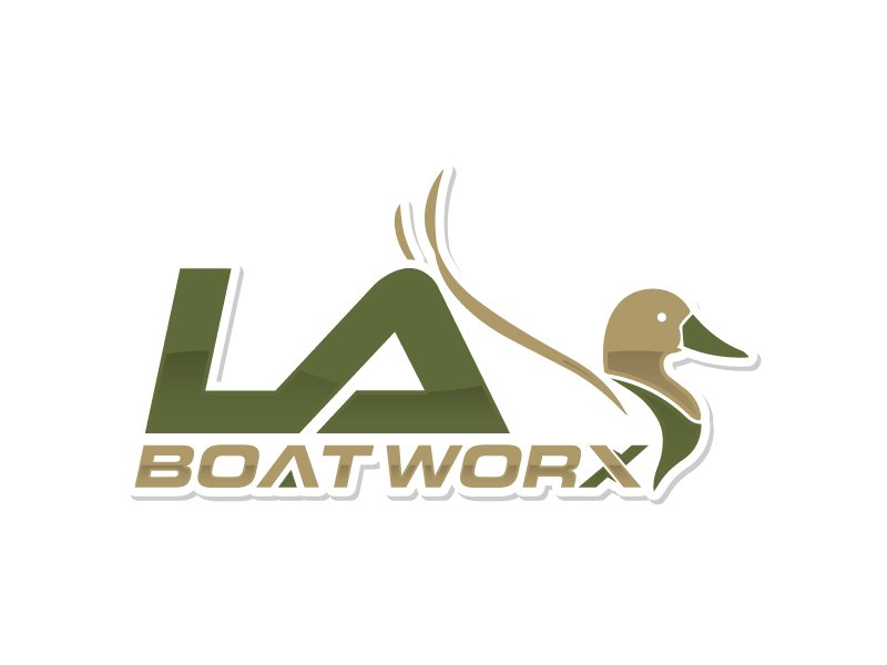 LA BOAT WORX logo design by Kirito
