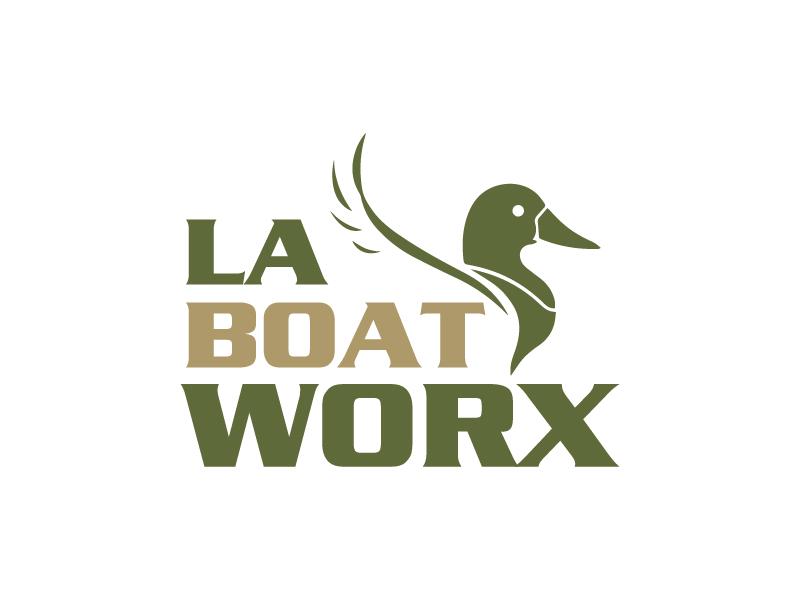 LA BOAT WORX logo design by wongndeso