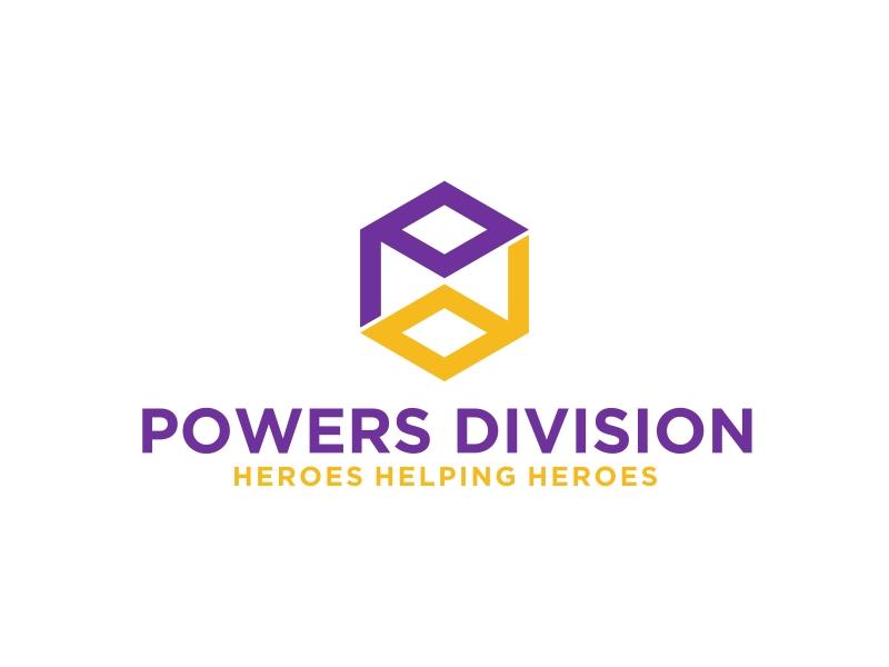 Powers Division - Heroes Helping Heroes Logo Design