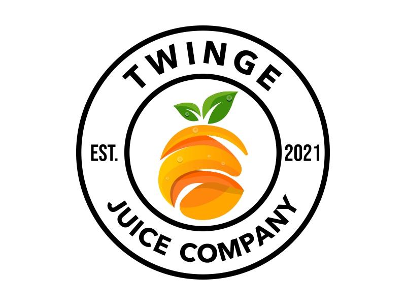 Twinge Juice Company or Twinge Juice Co. Logo Design
