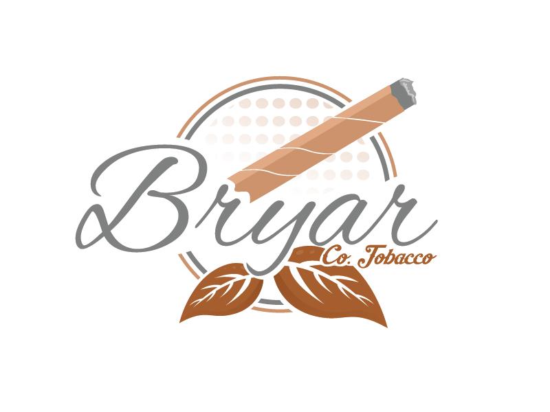 Bryar Co. Tobacco logo design by Shailesh