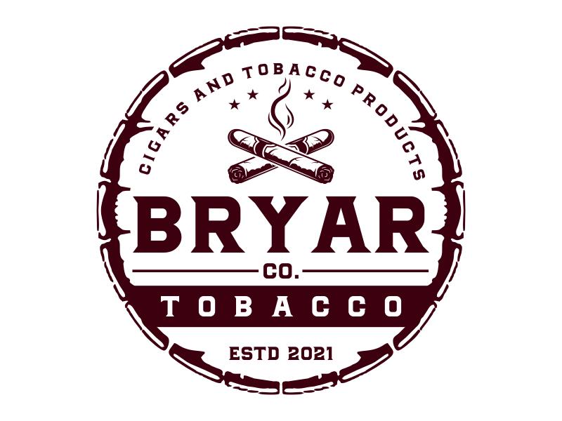 Bryar Co. Tobacco logo design by cikiyunn