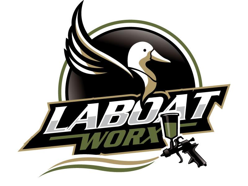 LA BOAT WORX logo design by REDCROW