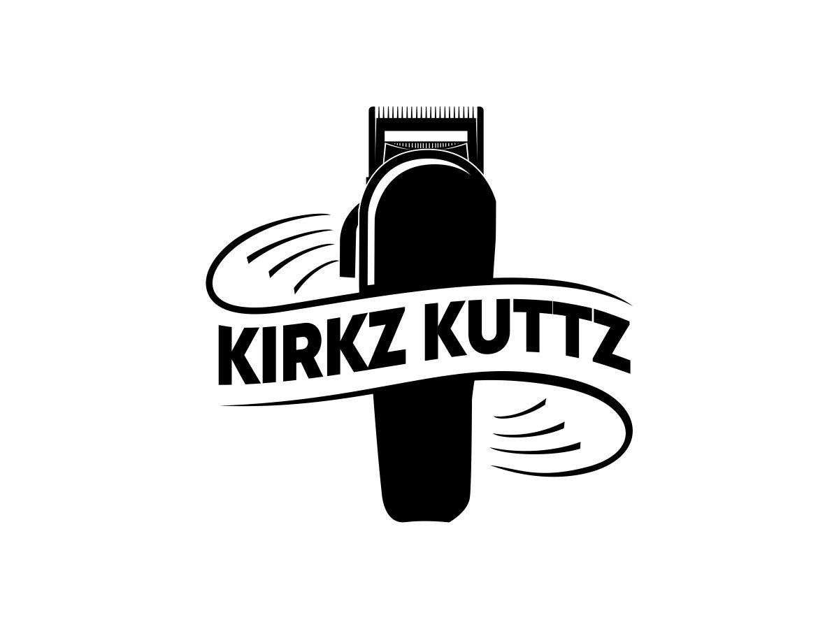 Kirkz Kuttz or Kirk Da Barber logo design by lj.creative