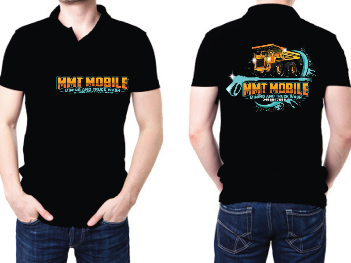 MMT Mobile mining and truck wash logo design by LogoQueen