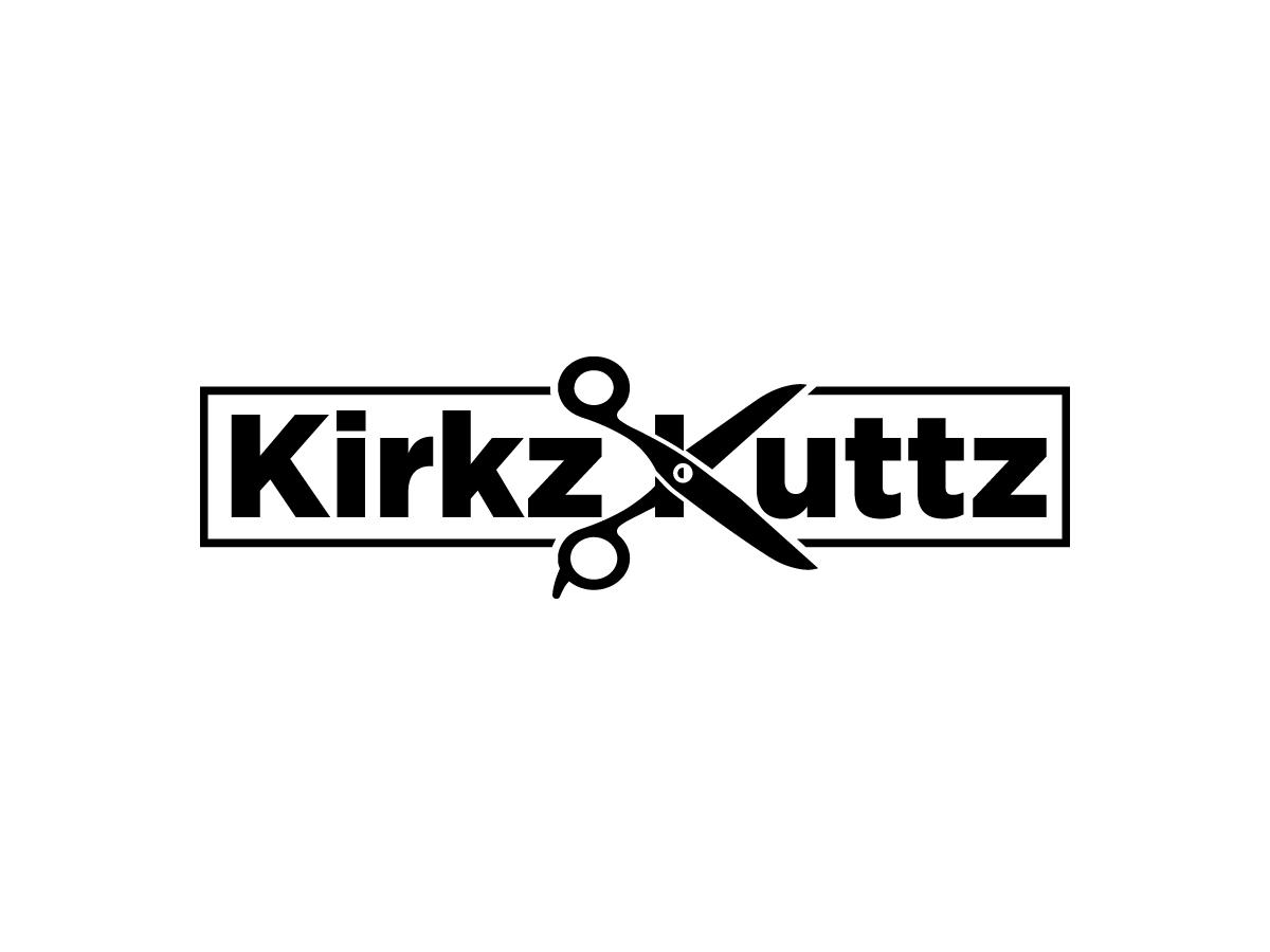 Kirkz Kuttz or Kirk Da Barber logo design by Dini Adistian