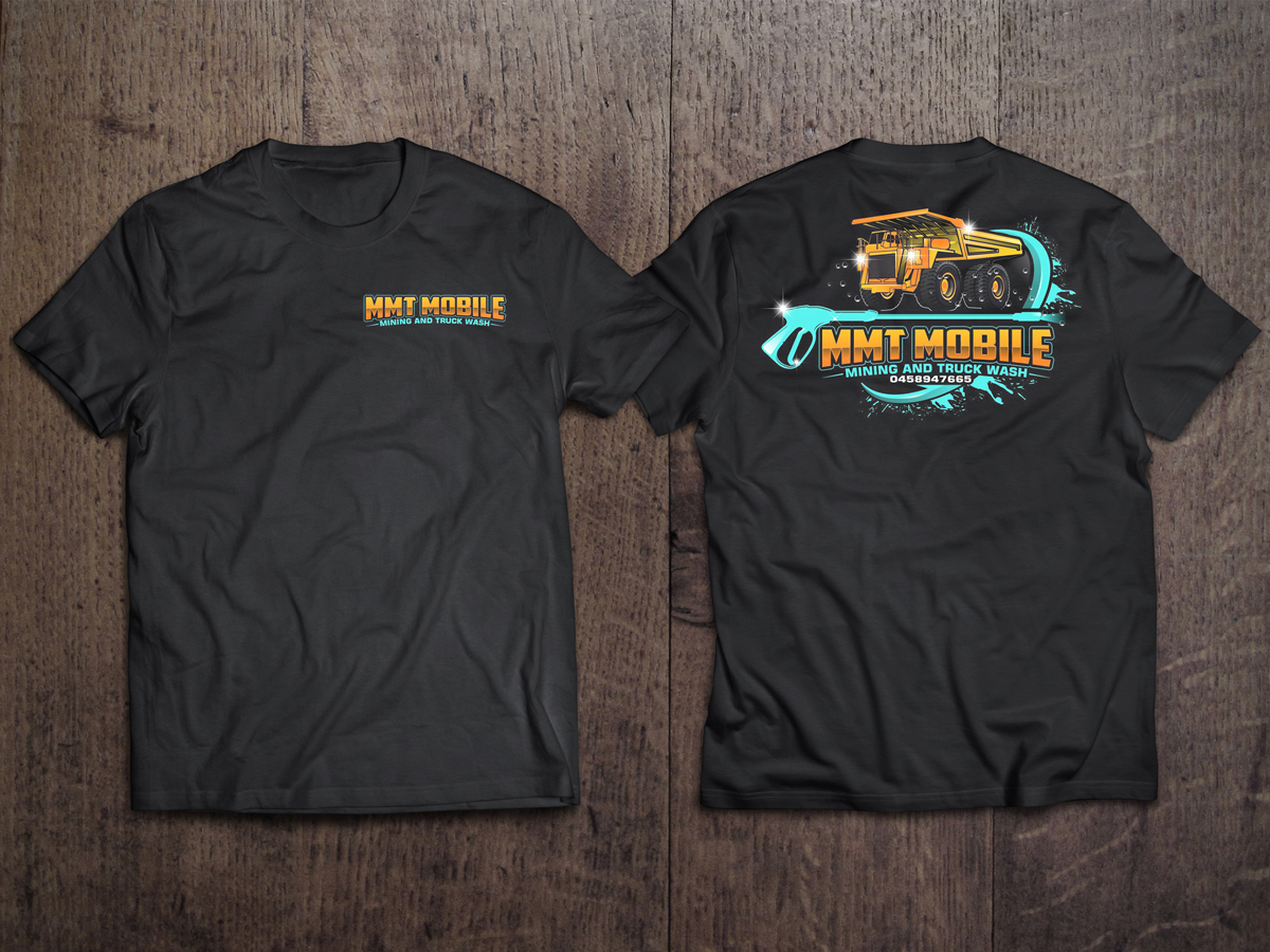 MMT Mobile mining and truck wash logo design by KHAI