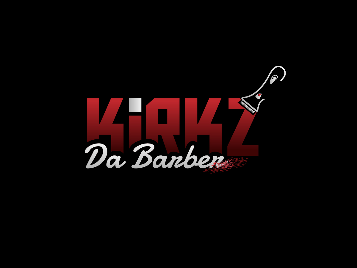 Kirkz Kuttz or Kirk Da Barber logo design by grea8design