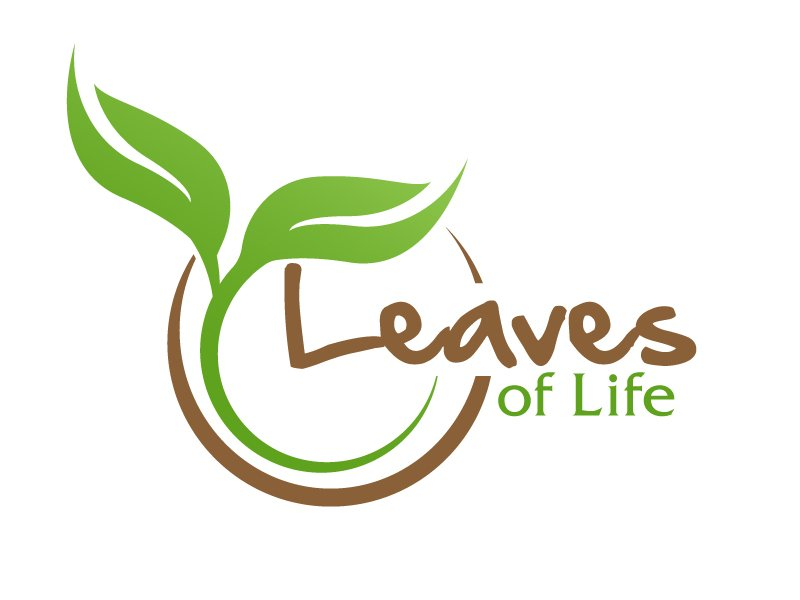 Leaves of Life lettering over top the flower of life(Sacred Geometry) symbol. logo design by ElonStark