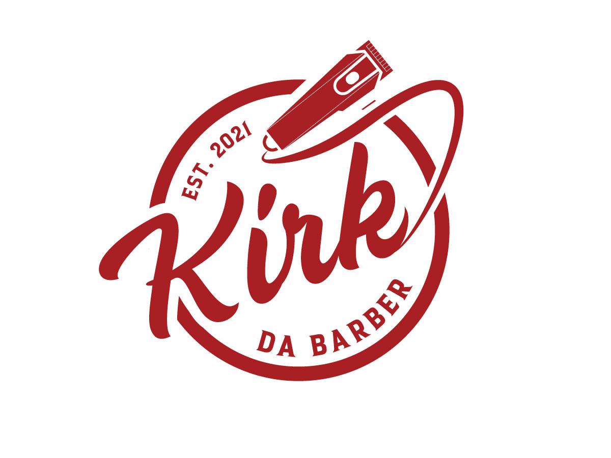 Kirkz Kuttz or Kirk Da Barber logo design by emberdezign