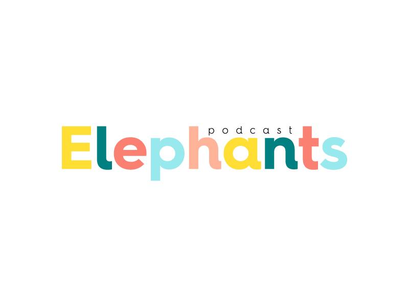 Elephants Podcast logo design by wongndeso