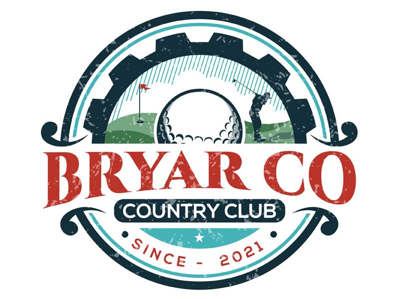 Bryar Co Country Club logo design by MAXR