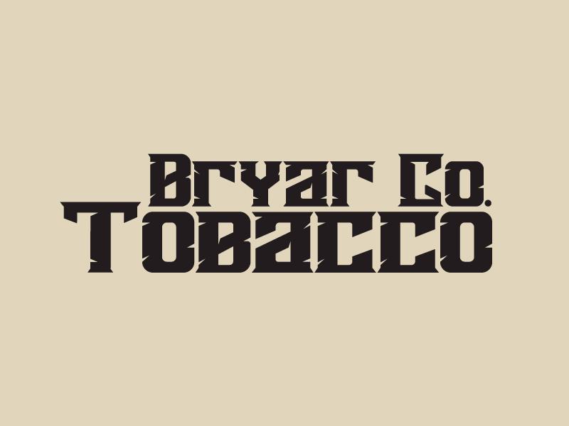 Bryar Co. Tobacco logo design by Sami Ur Rab