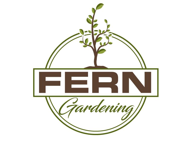 Fern Gardening logo design by ElonStark
