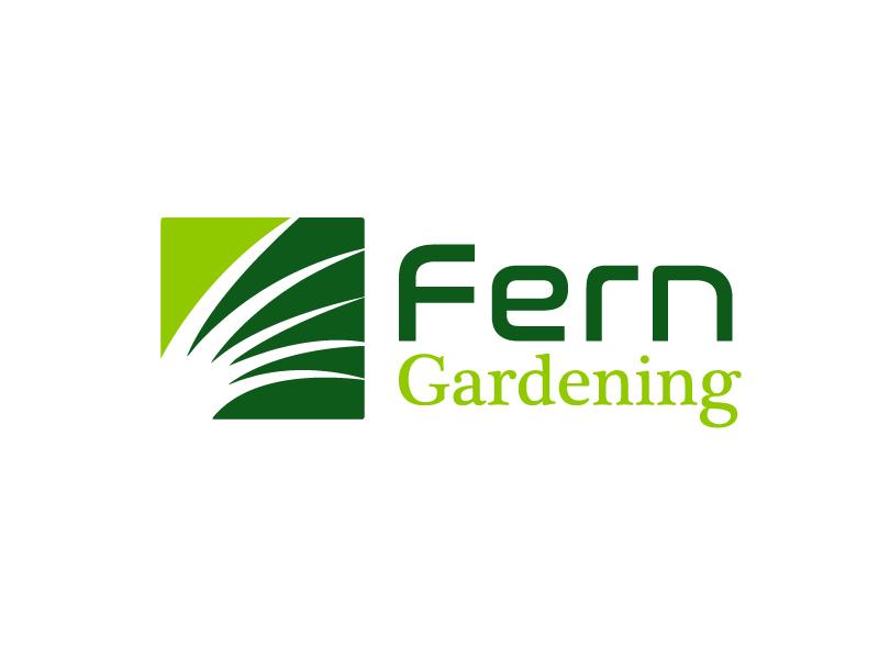 Fern Gardening logo design by Marianne