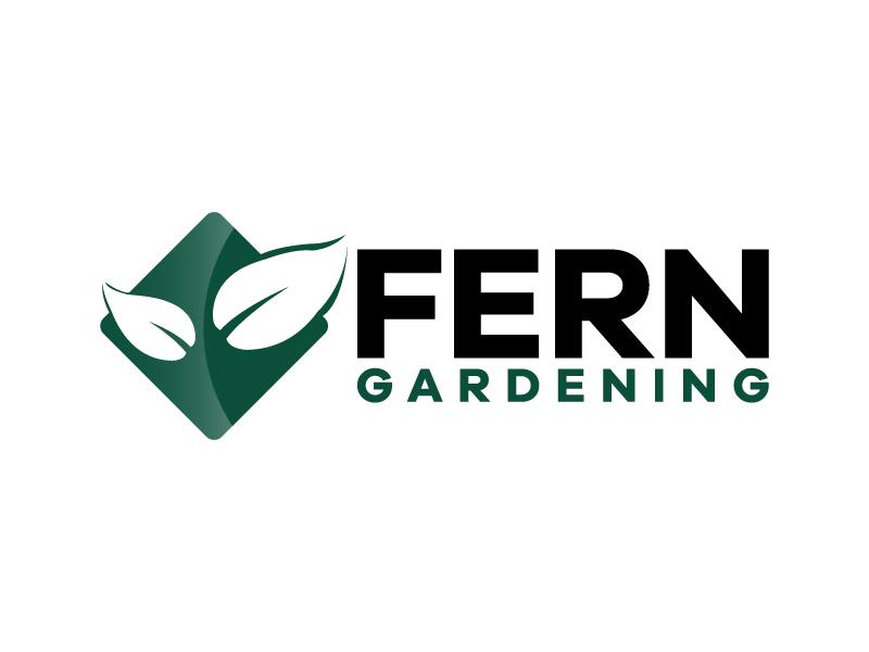 Fern Gardening logo design by karjen