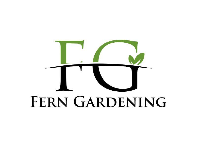 Fern Gardening logo design by Gwerth