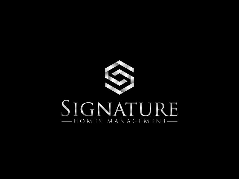 Signature Homes Management Logo Design