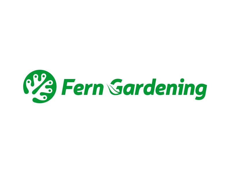 Fern Gardening logo design by ekitessar