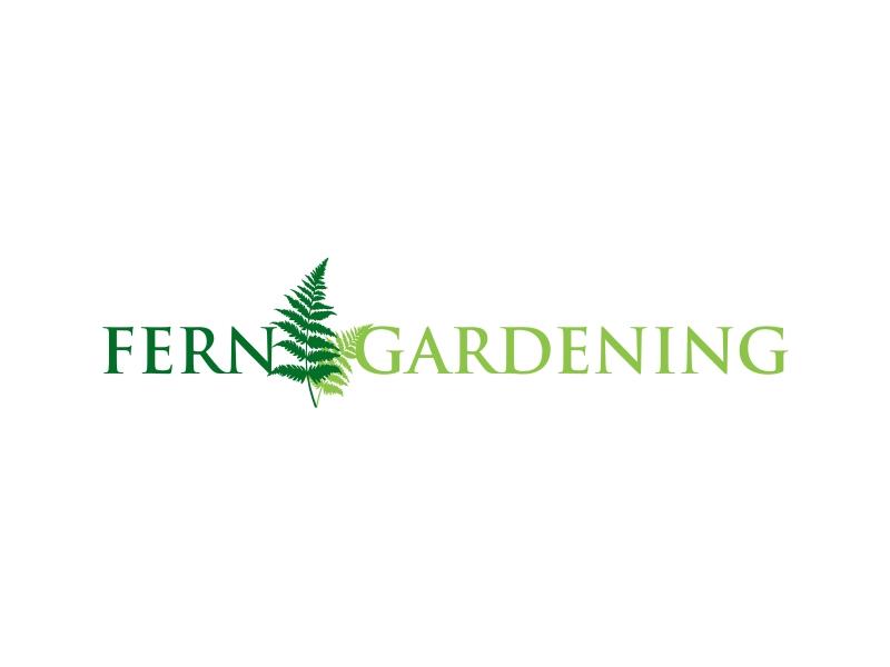 Fern Gardening logo design by GemahRipah