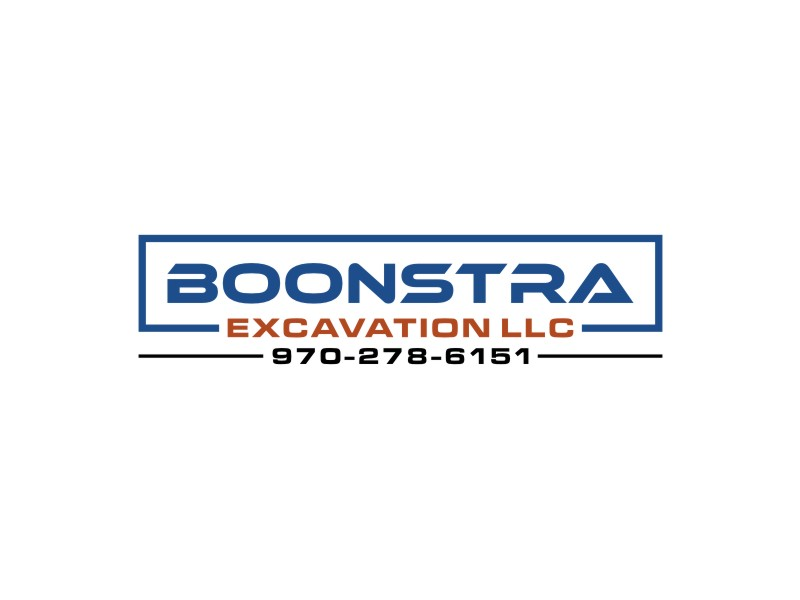 Boonstra Excavation LLC logo design by alby
