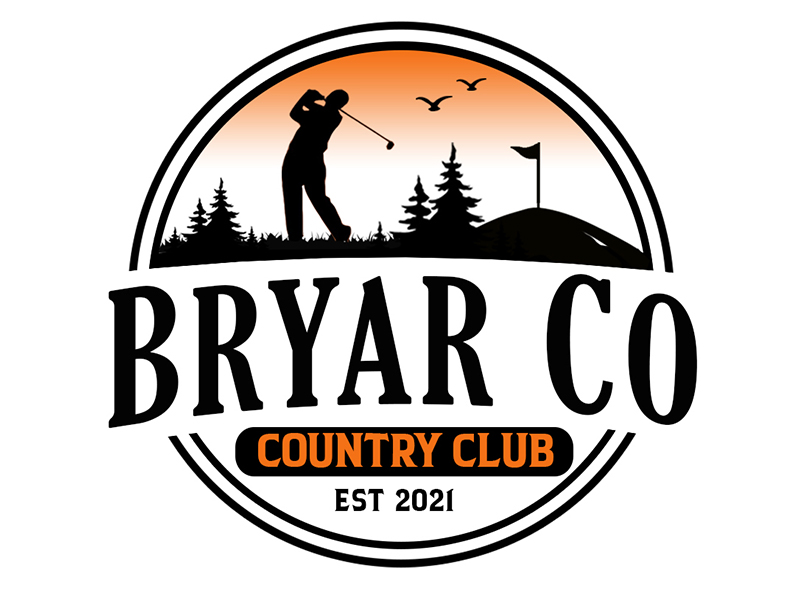 Bryar Co Country Club logo design by PrimalGraphics