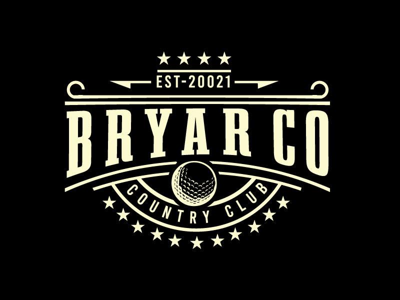 Bryar Co Country Club logo design by REDCROW