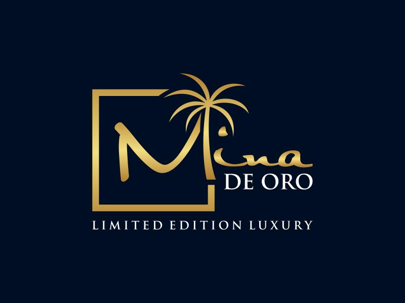Mina de Oro Logo Design