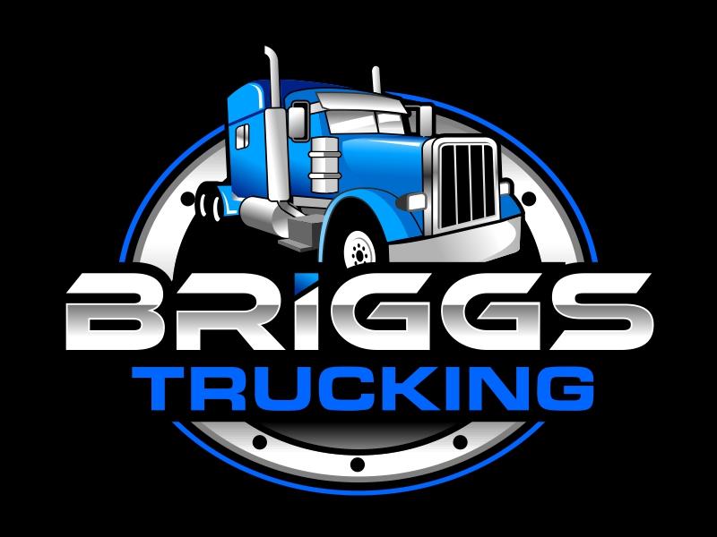 Briggs Trucking logo design by ingepro