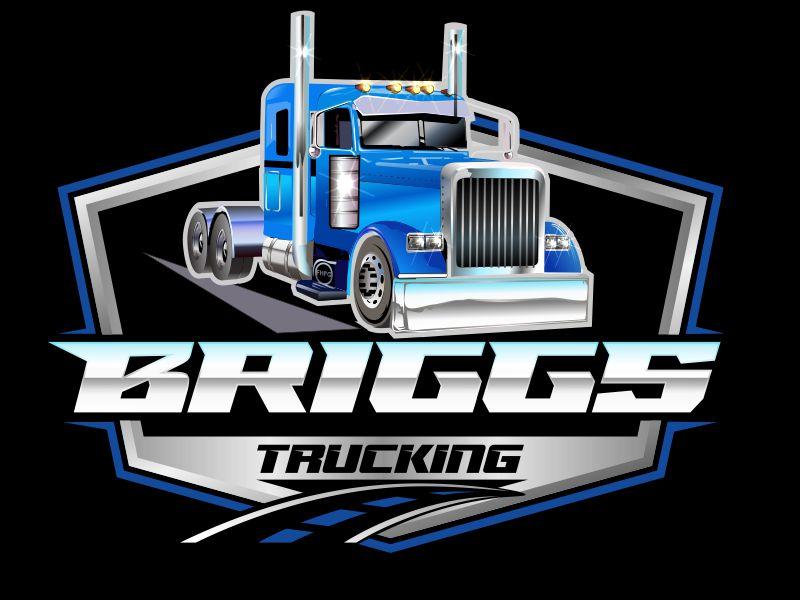 Briggs Trucking logo design by bosbejo