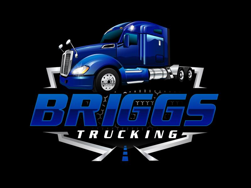Briggs Trucking logo design by scriotx