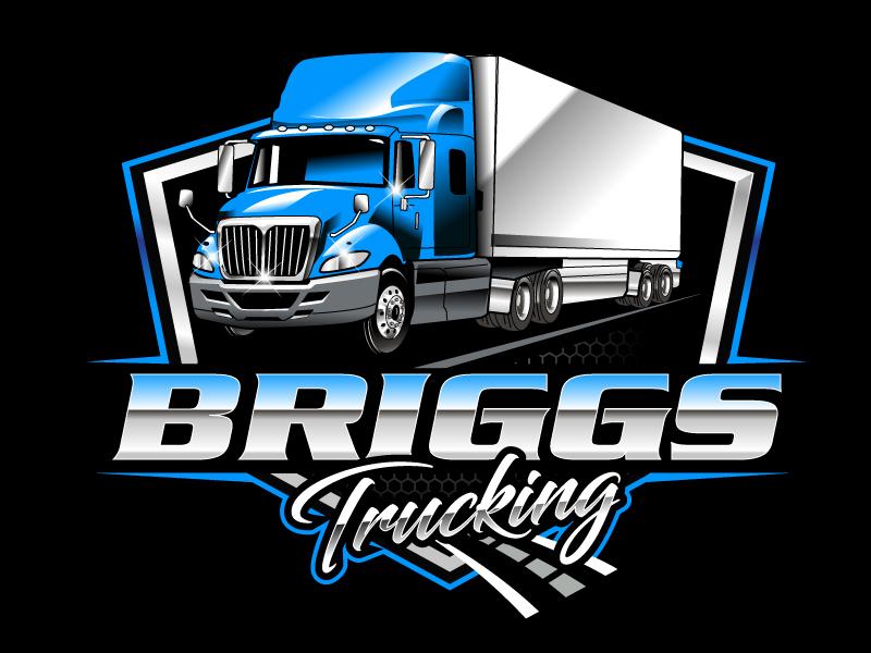 Briggs Trucking logo design by uttam