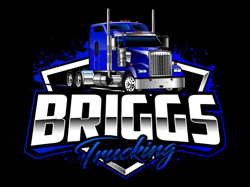 Briggs Trucking logo design by daywalker