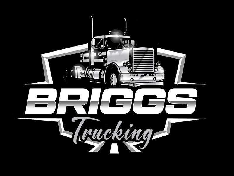 Briggs Trucking logo design by senja03