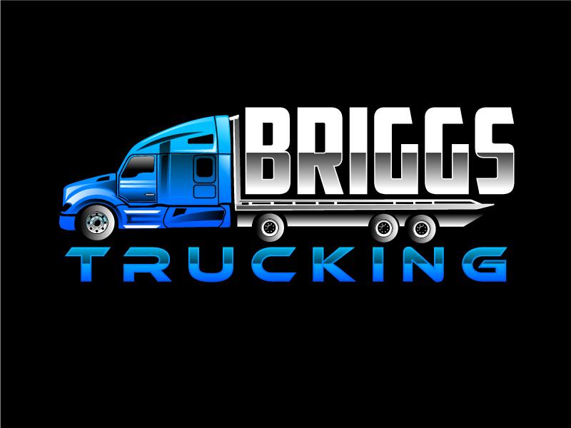 Briggs Trucking logo design by Suvendu