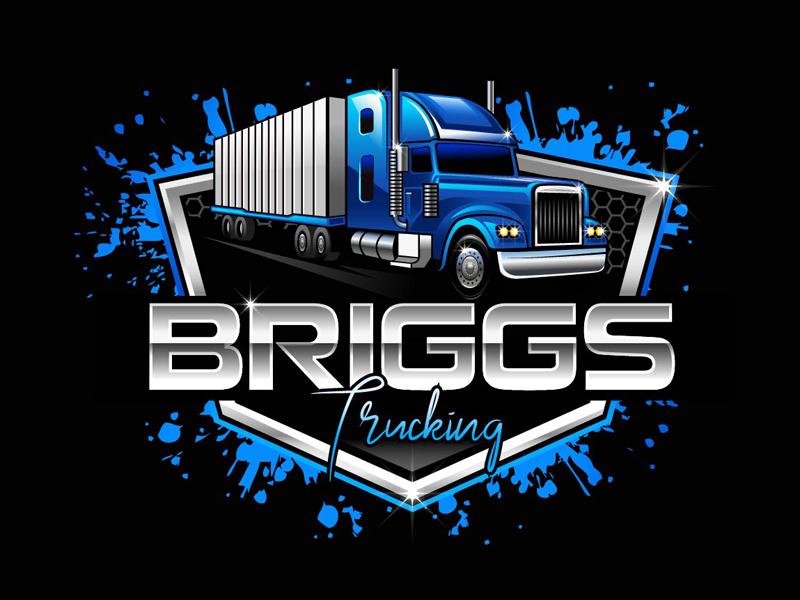 Briggs Trucking logo design by DreamLogoDesign