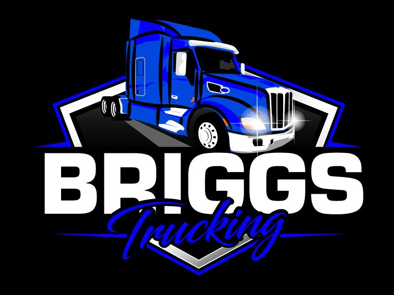 Briggs Trucking logo design by ElonStark