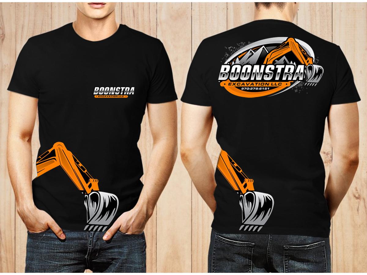 Boonstra Excavation LLC logo design by Thuwan Aslam Haris