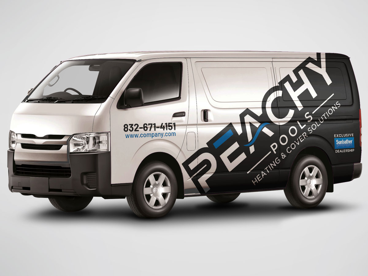 Van signwriting design for a Pool Heating company logo design by grea8design