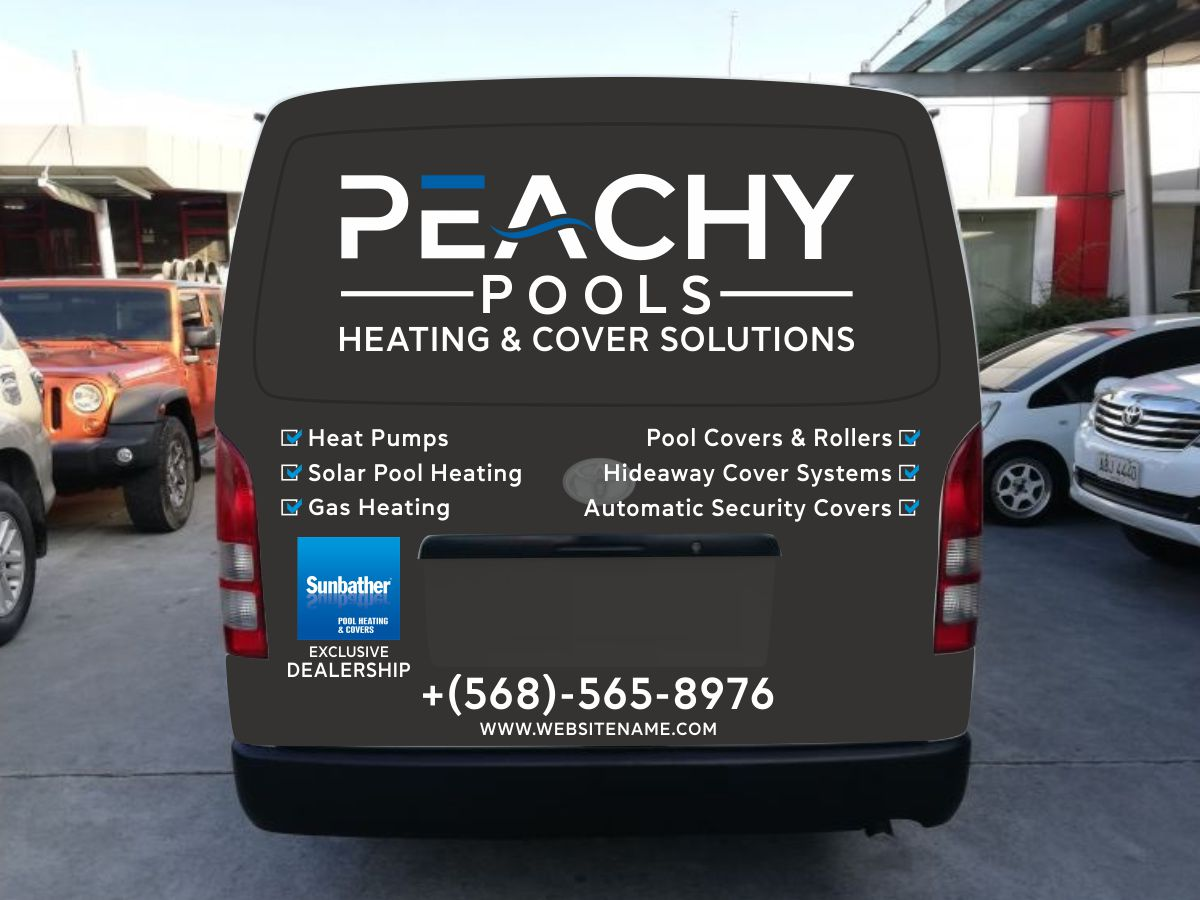 Van signwriting design for a Pool Heating company logo design by Thuwan Aslam Haris