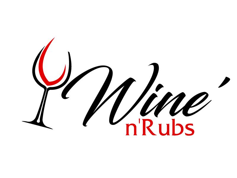 Wine'n'Rubs logo design by ElonStark