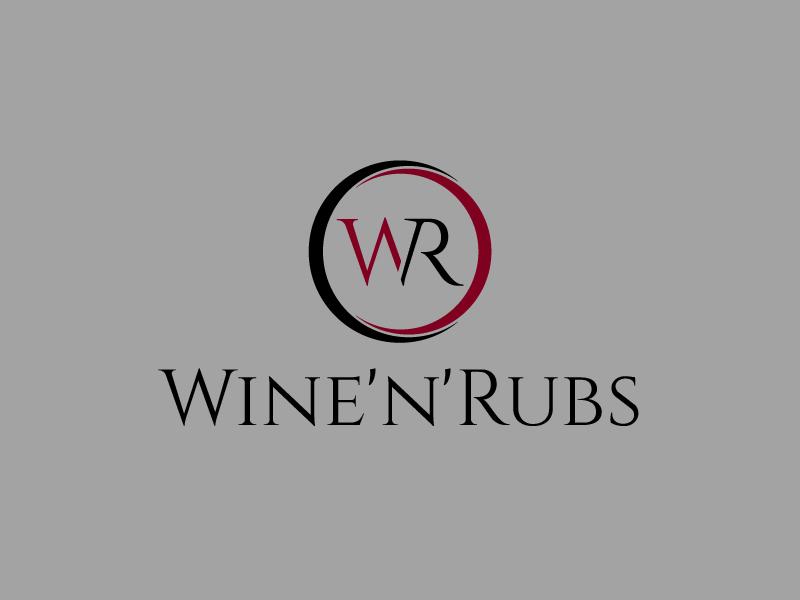 Wine'n'Rubs logo design by my!dea