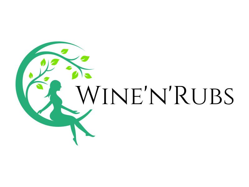 Wine'n'Rubs logo design by jetzu