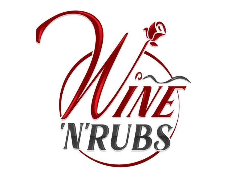 Wine'n'Rubs logo design by DreamLogoDesign