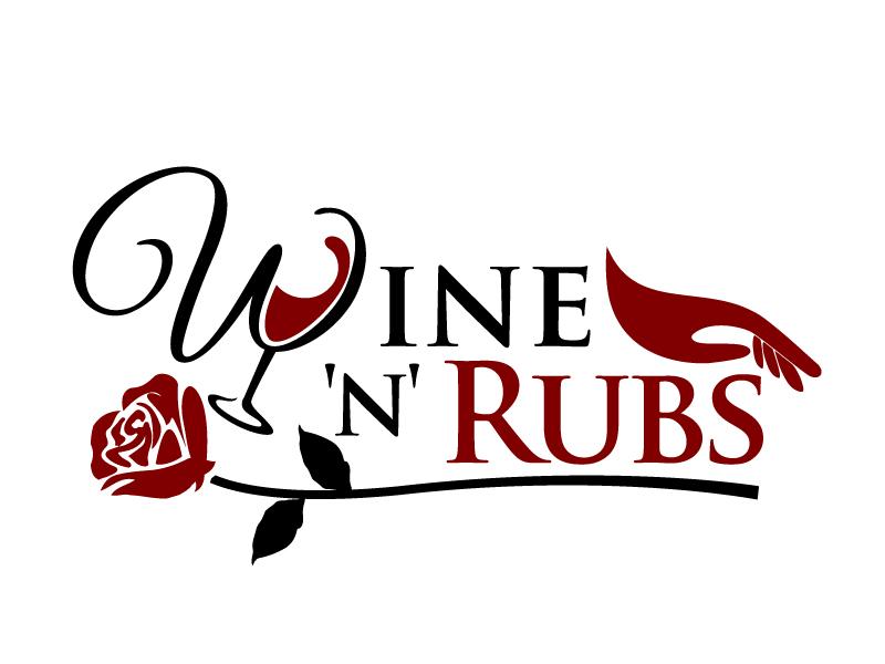 Wine'n'Rubs logo design by jaize