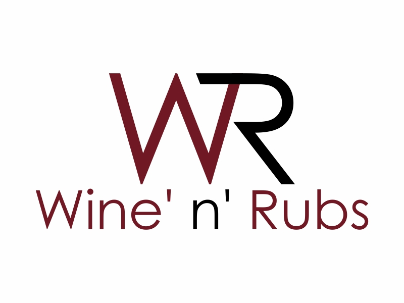 Wine'n'Rubs logo design by All Lyna