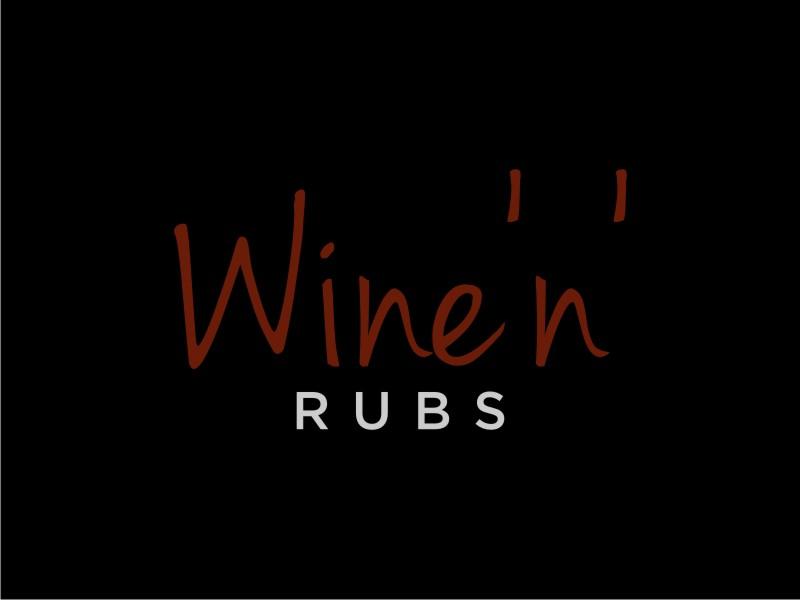Wine'n'Rubs logo design by Arto moro